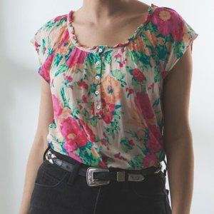 Eloise Anthropologie Floral Top